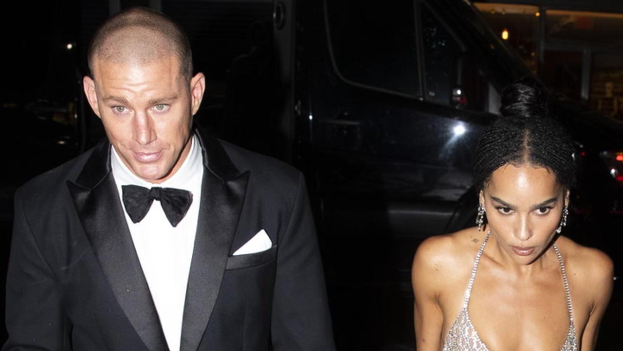 Zoe Kravitz & Channing Tatum Reunite After Walking Met Gala Red Carpet Separately