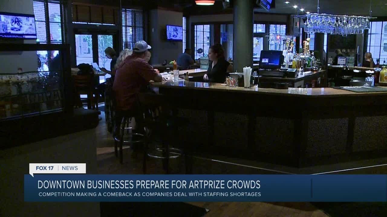 Downtown businesses prepare for Artprize crowds
