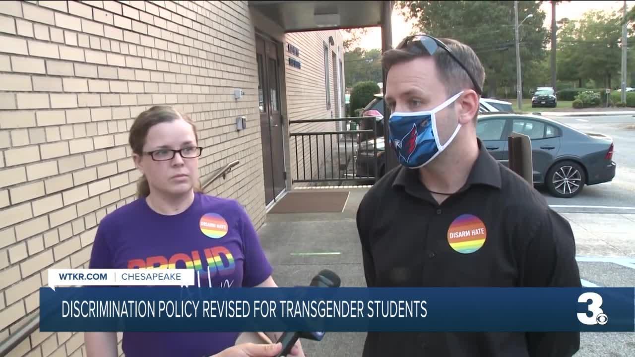 Discrimination policy revised for transgender students