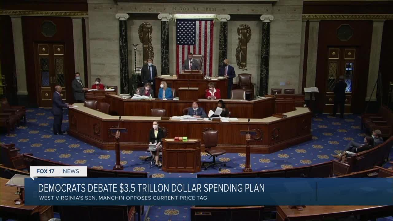 Debate in D.C. over $3.5 trillion spending proposal