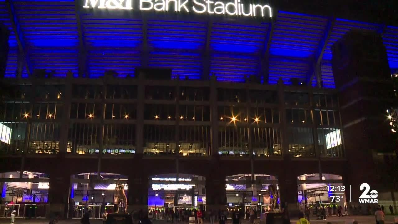 Fans come out in droves to support the Ravens in their Monday Night Football showdown