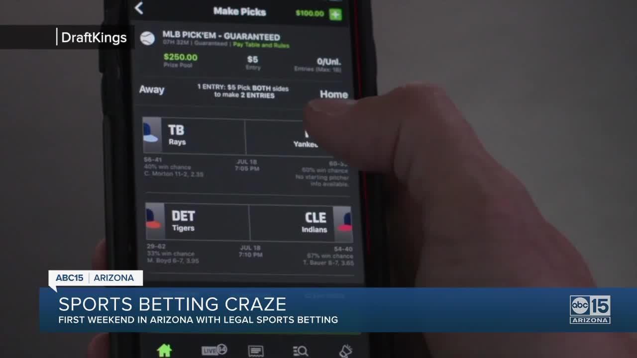 Sports betting craze ramping up in Arizona