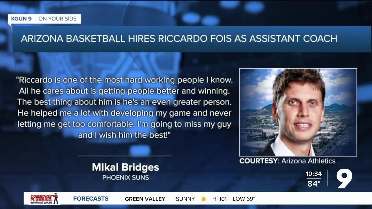 Arizona Basketball hires Riccardo Fois as assistant coach