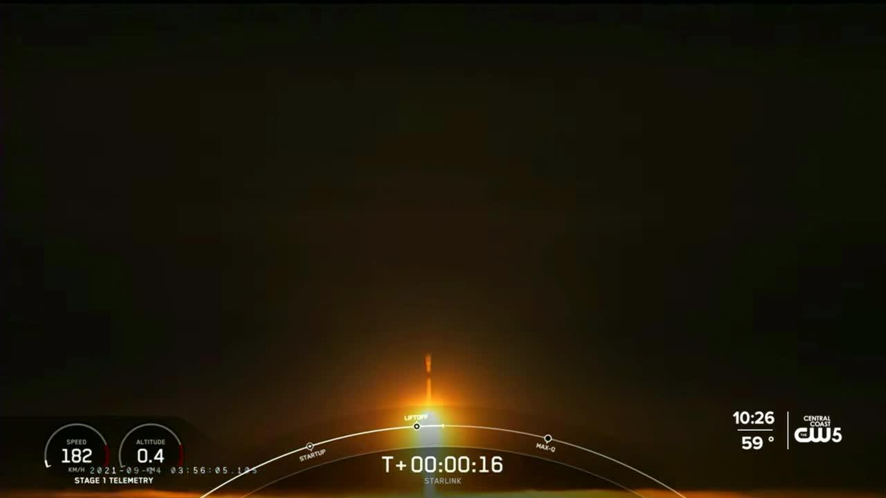 SpaceX Falcon 9 rocket launches from Vandenberg Space Force Base