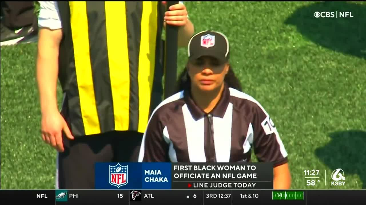 Maia Chaka becomes first black woman to officiate NFL game