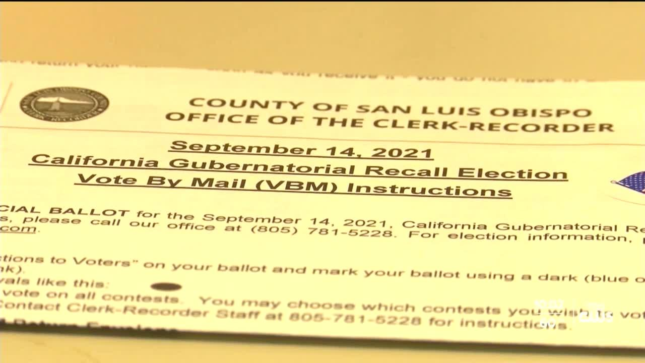 SLO County Clerk Recorder's Office prepares on eve of recall election