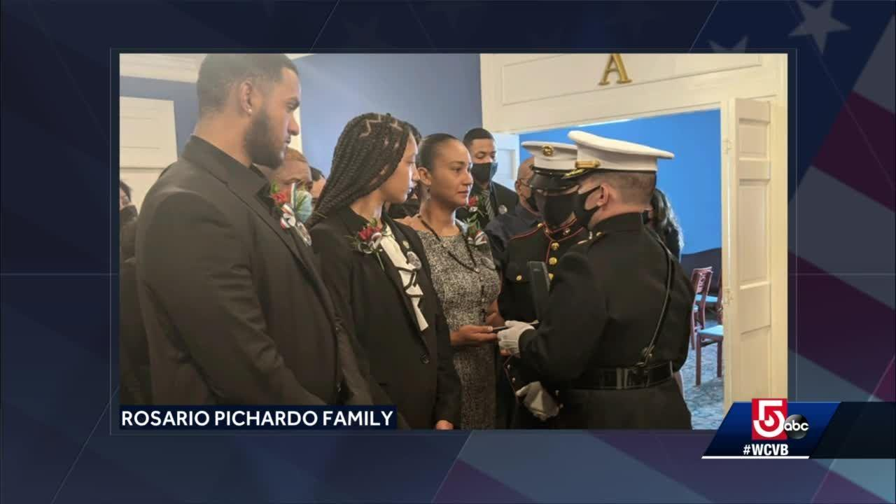 Public services being held for fallen Lawrence Marine