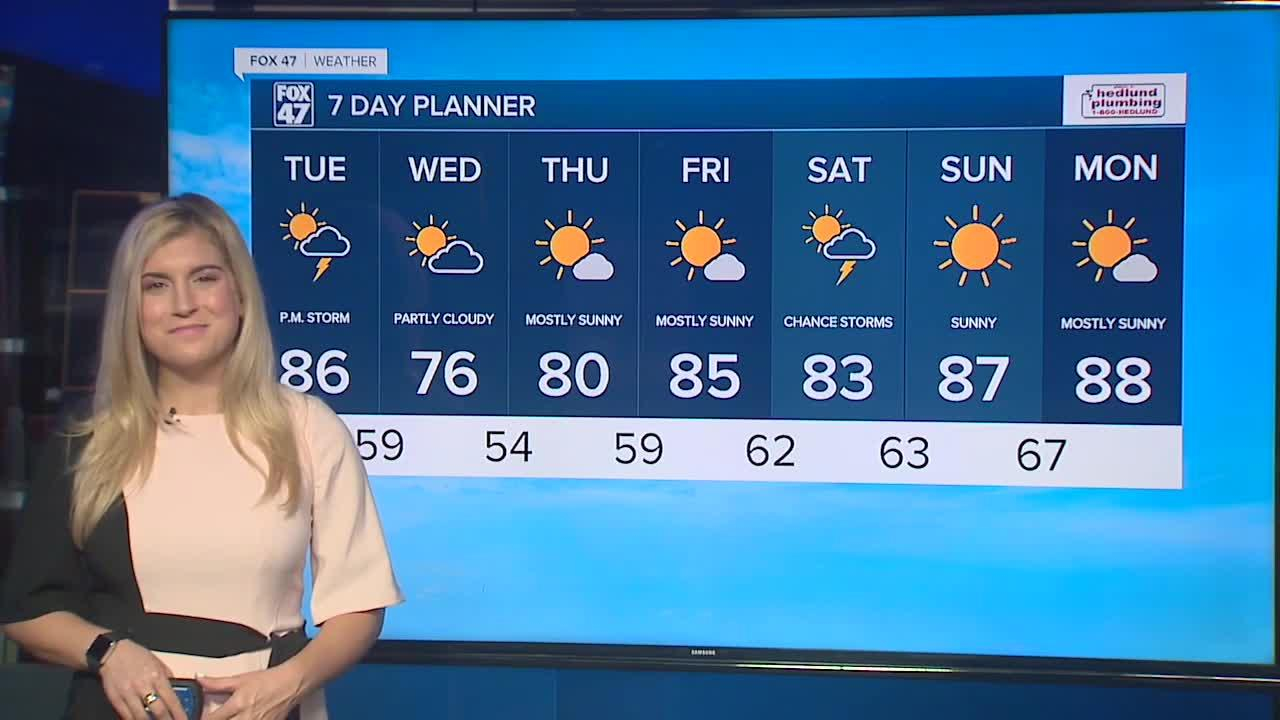 Today's Forecast: Warm and humid with possible stronger storms later on