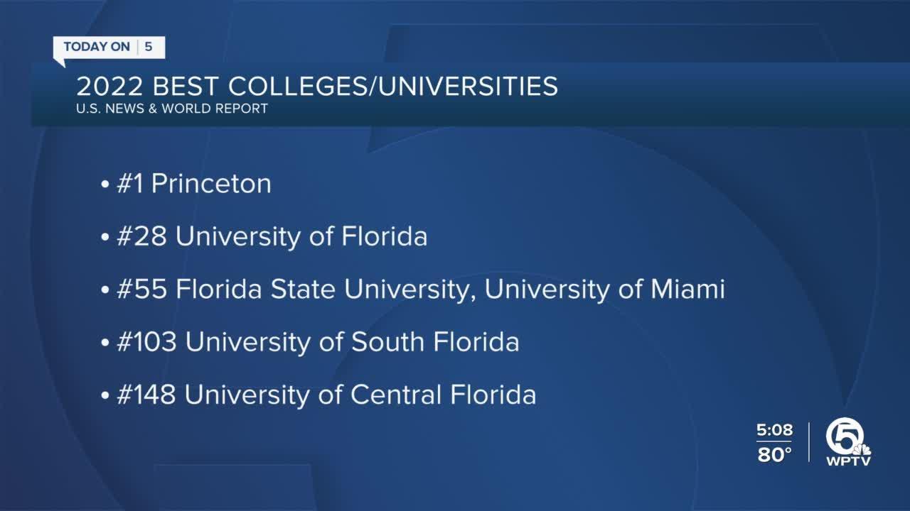 Florida universities top higher education rankings