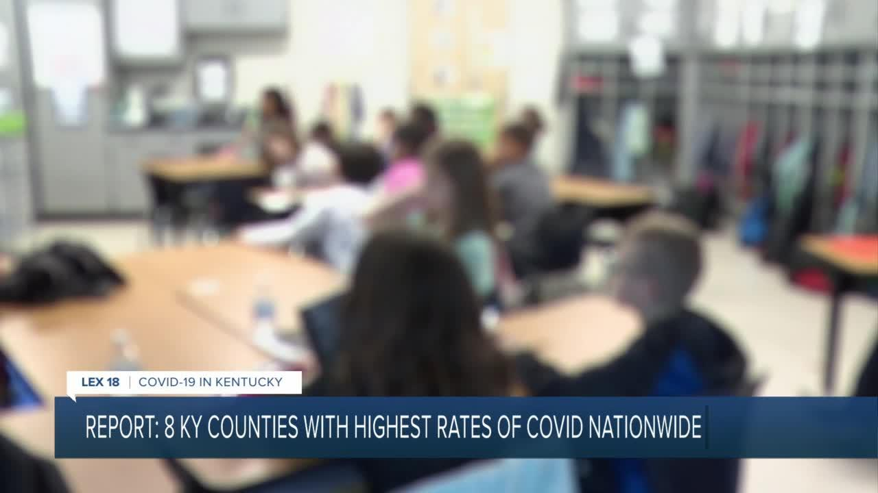 Report: 8 KY counties with highest rates of COVID-19 nationwide