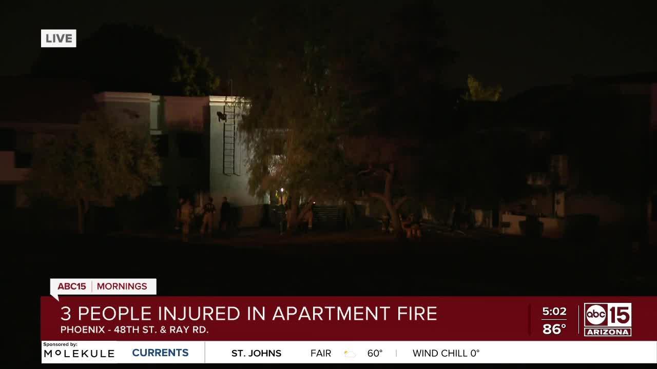 3 hurt after jumping from burning Ahwatukee apartment