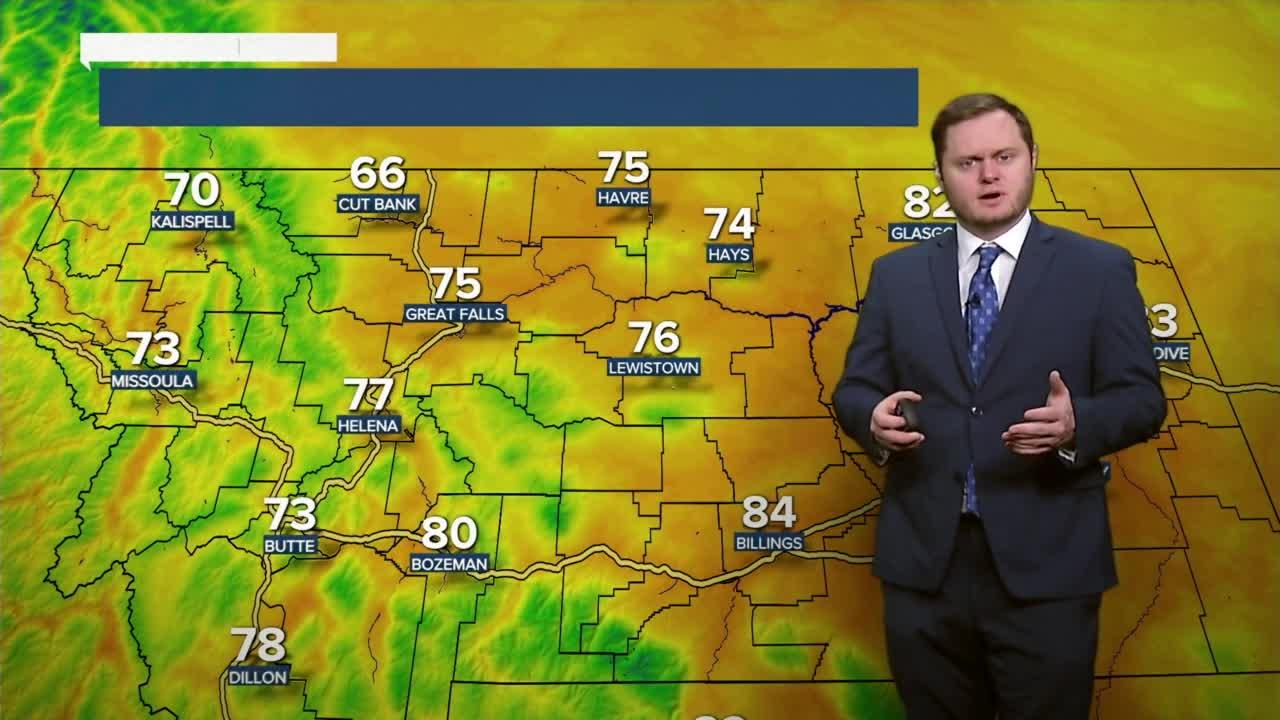 Another pleasant day with temperatures for most of us in the mid 70s.