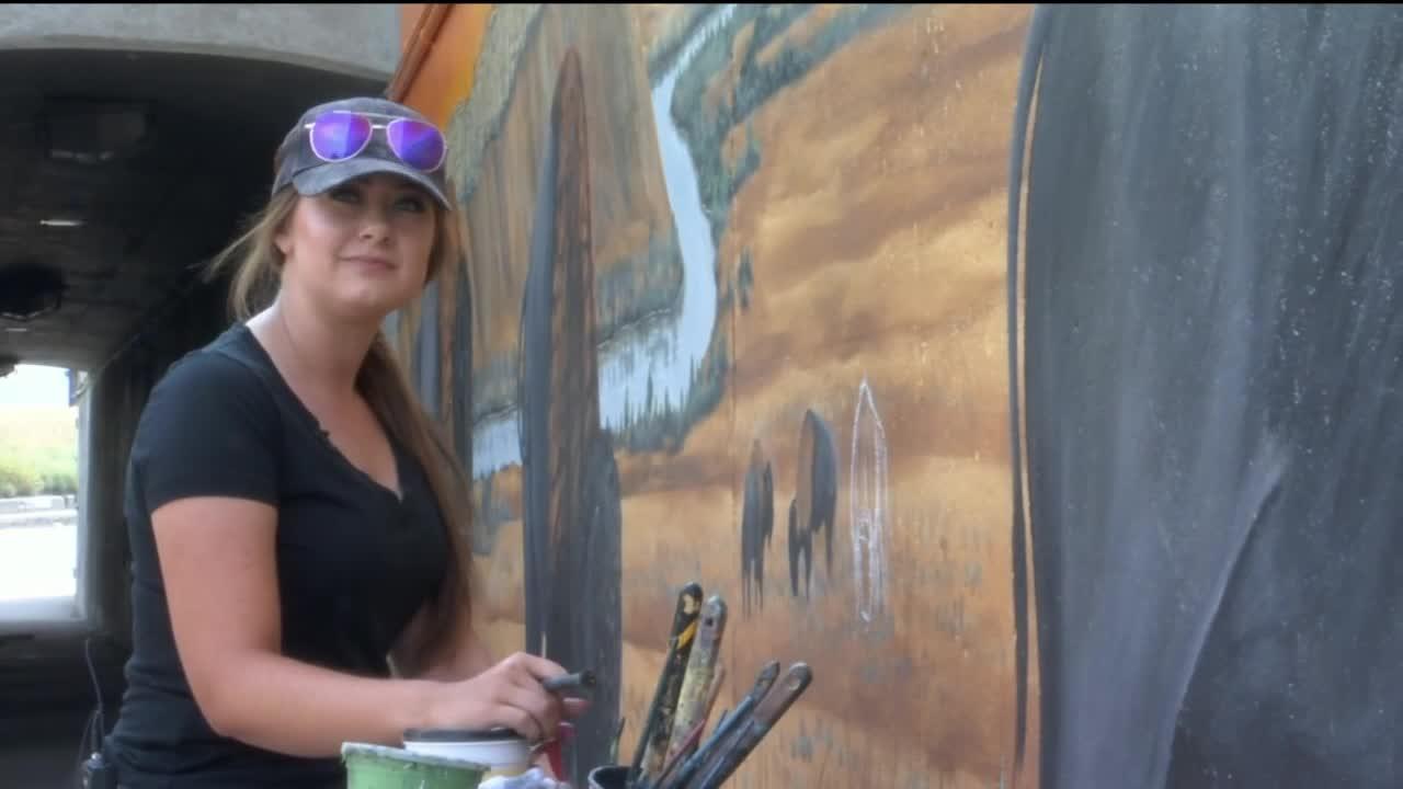 Billings artist completes 2nd underpass mural