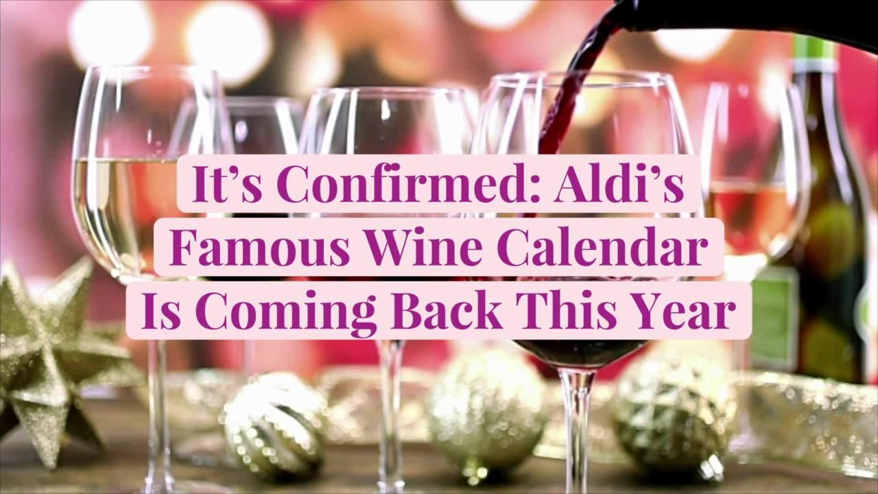 It's Confirmed: Aldi's Famous Wine Calendar Is Coming Back This Year