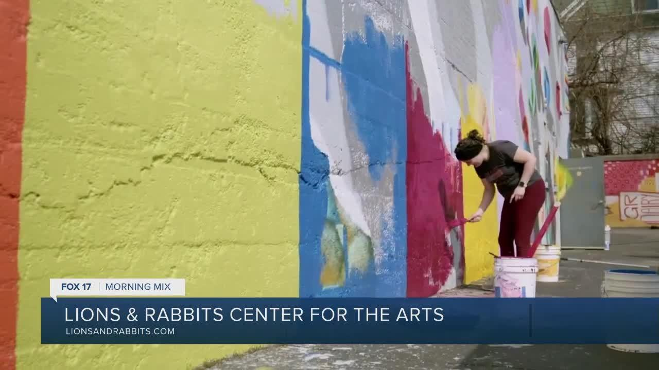 Lions and Rabbits Center for the Arts turns sidewalks of Grand Rapids into a board game