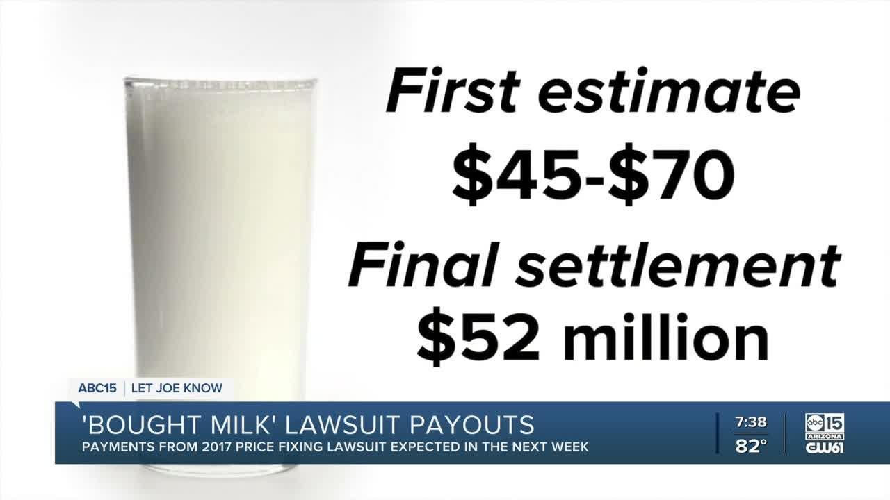 'Bought Milk' settlement lawsuit payouts expected soon