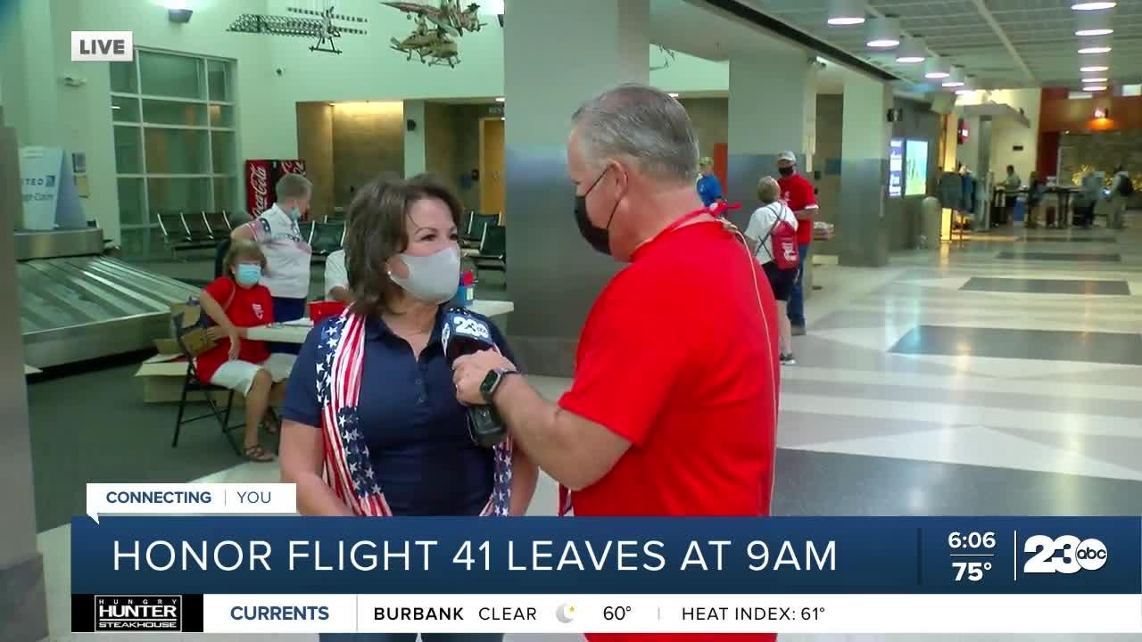 Honor Flight leaves Bakersfield for nation's Capitol