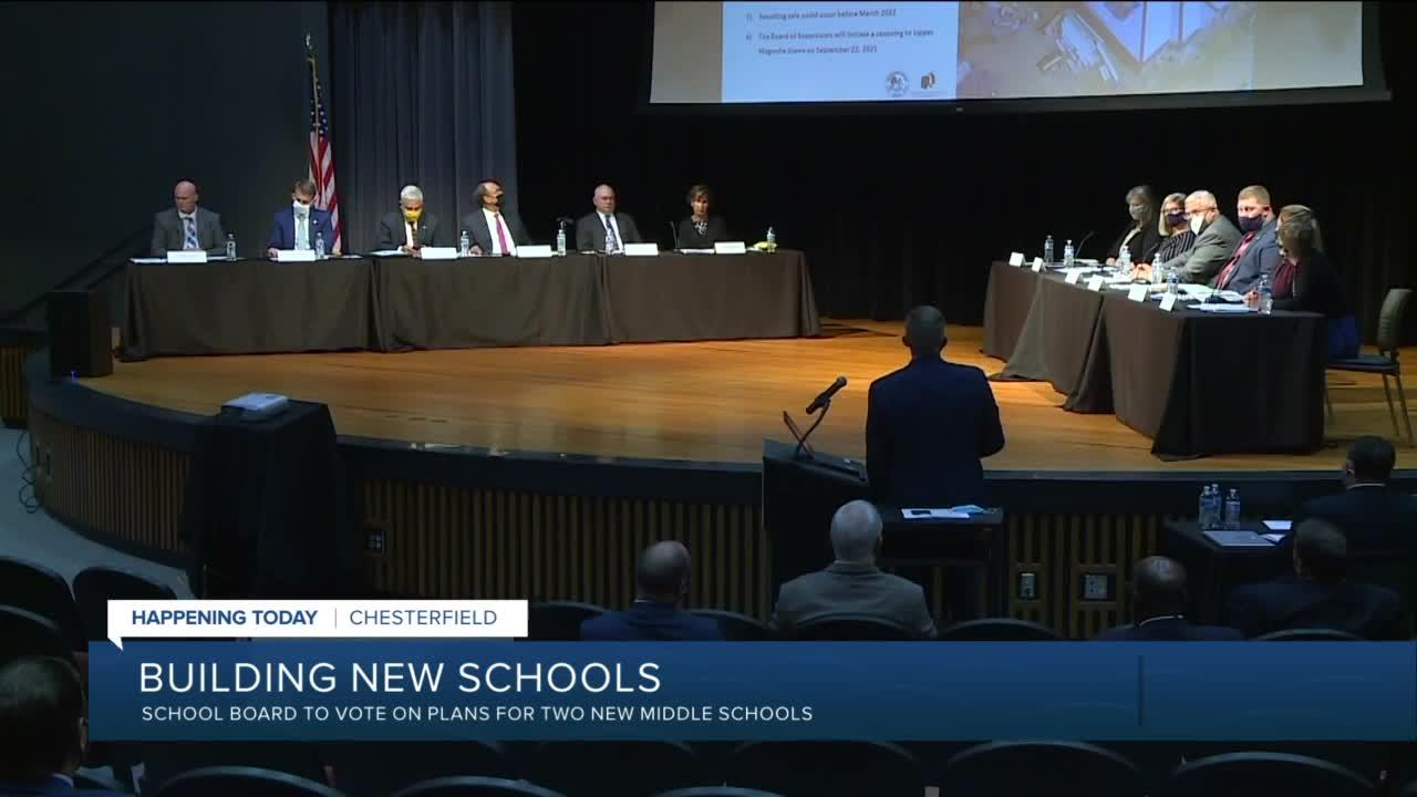 Chesterfield to vote on new middle schools