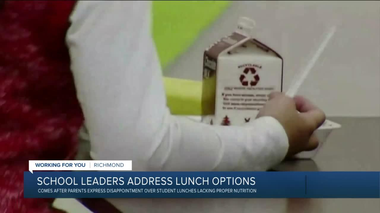 Richmond parents upset over school lunch options