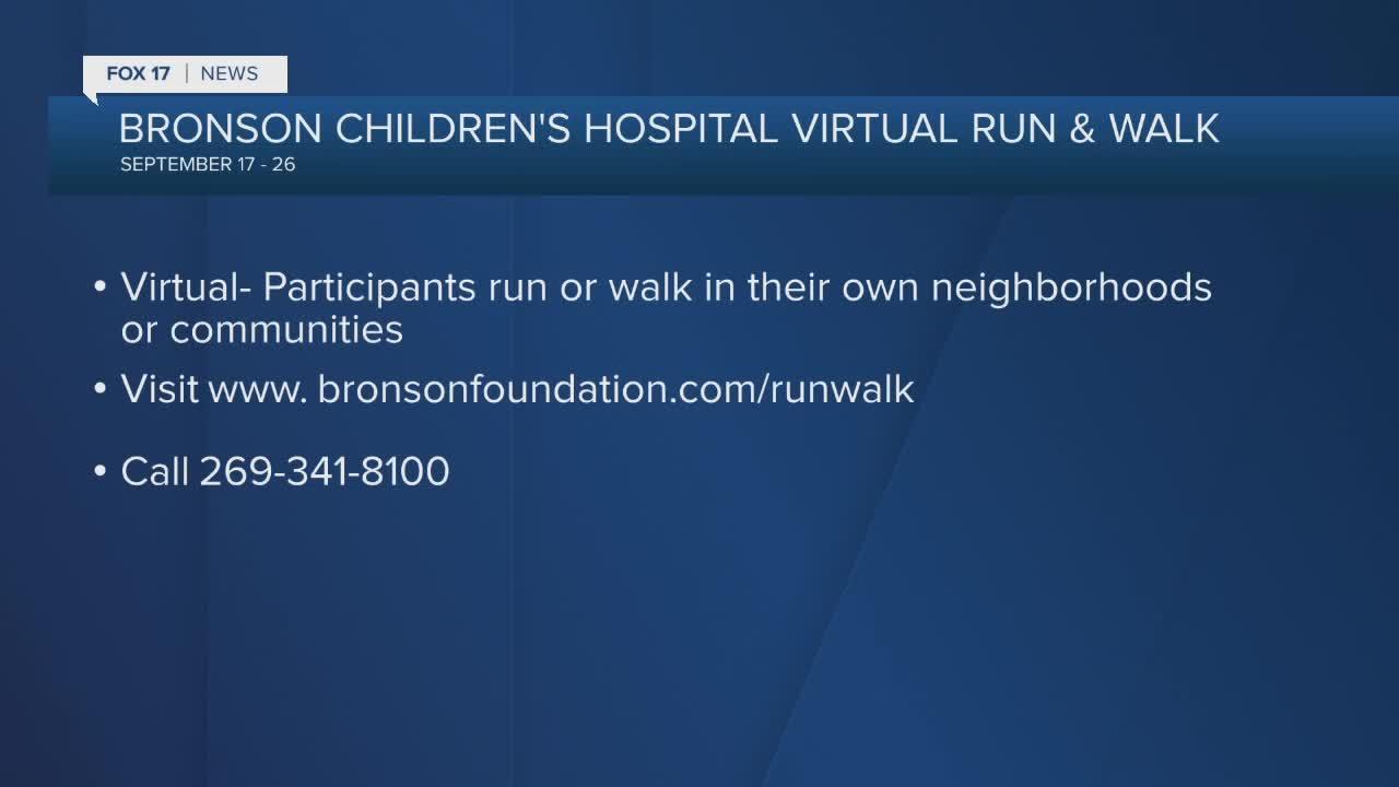 Bronson Children's Hospital Virtual run & Walk