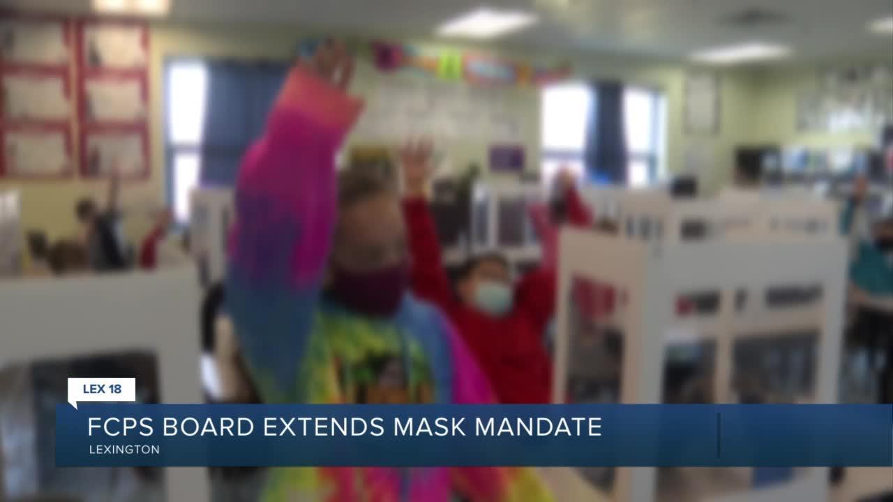 FCPS Board extends mask mandate