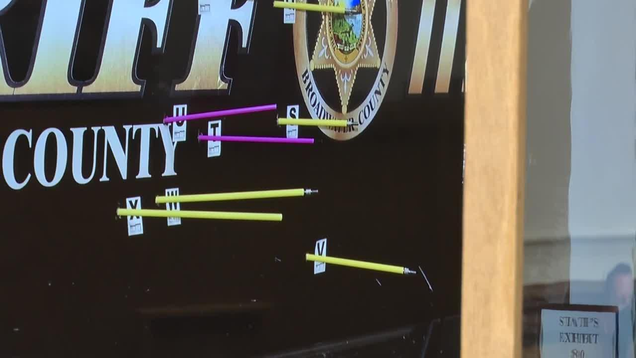 Barrus Trial: Deputy's patrol vehicle shot more than 20 times