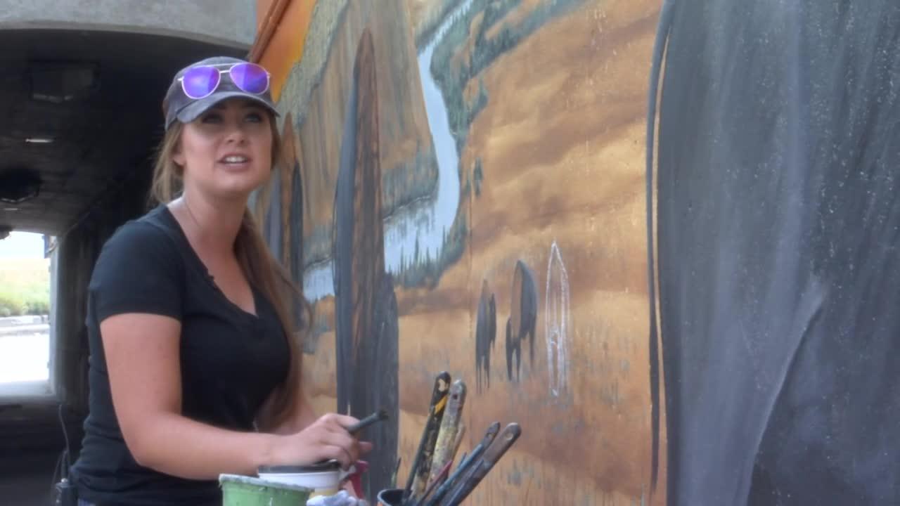 Montana artist completes second underpass mural
