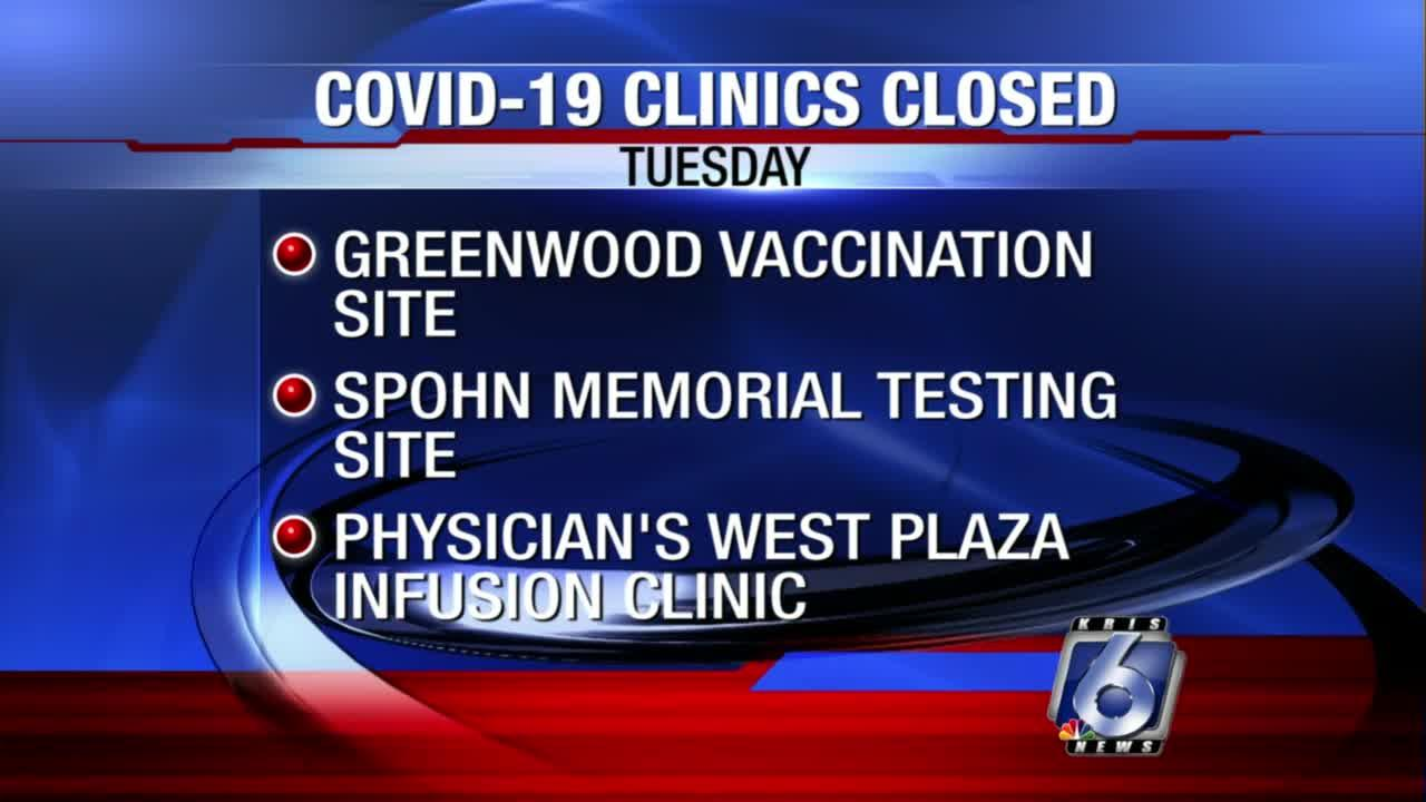 COVID-19 clinics remain closed Tuesday because of Nicholas