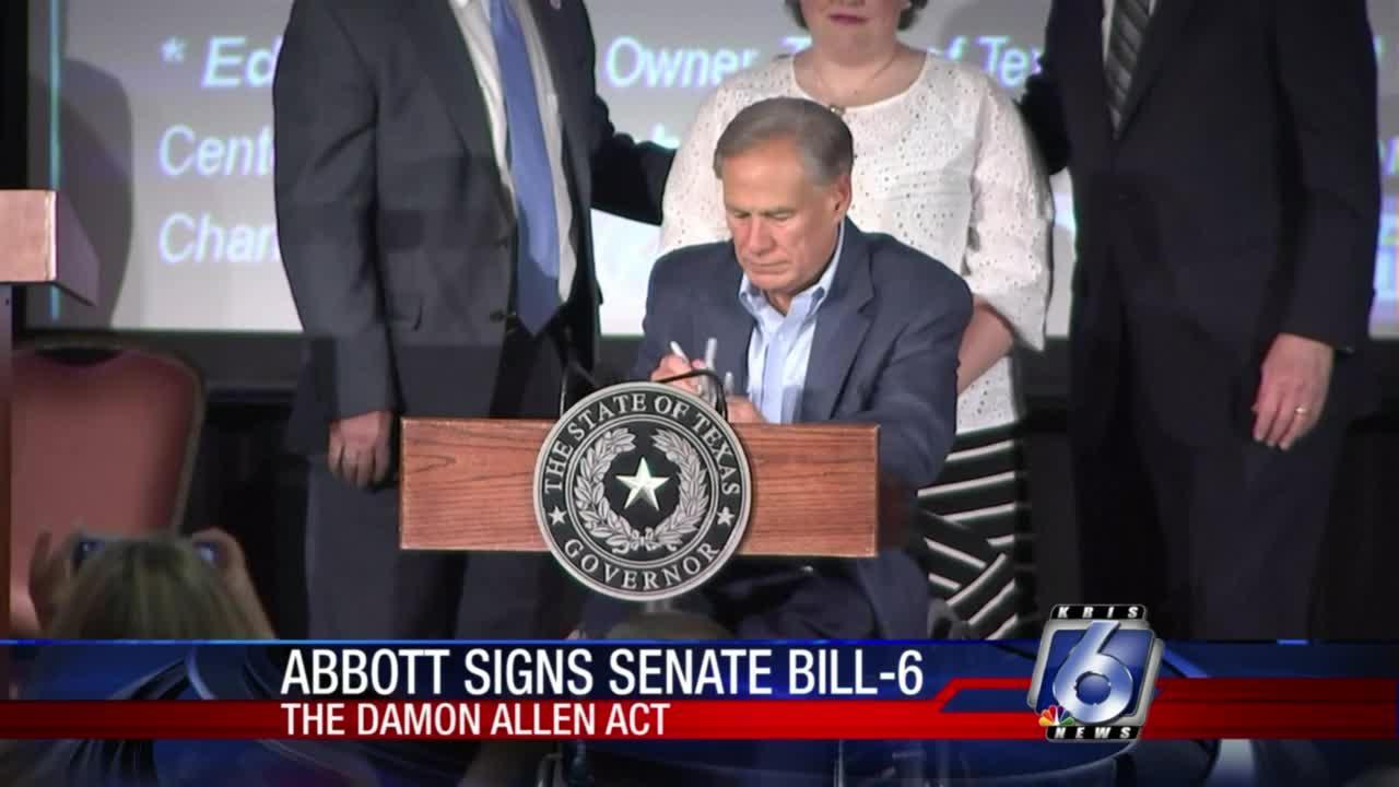 Abbott signs Damon Allen Act into law