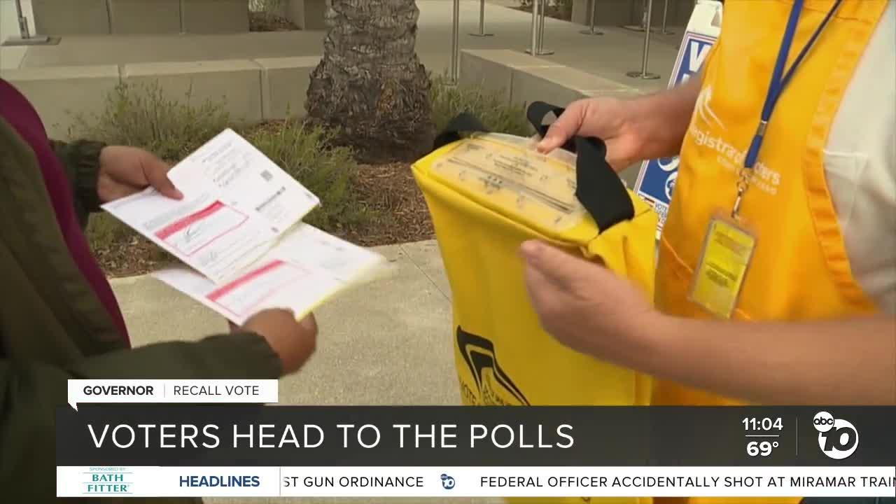 San Diego voters head to the polls for California gubernatorial recall election