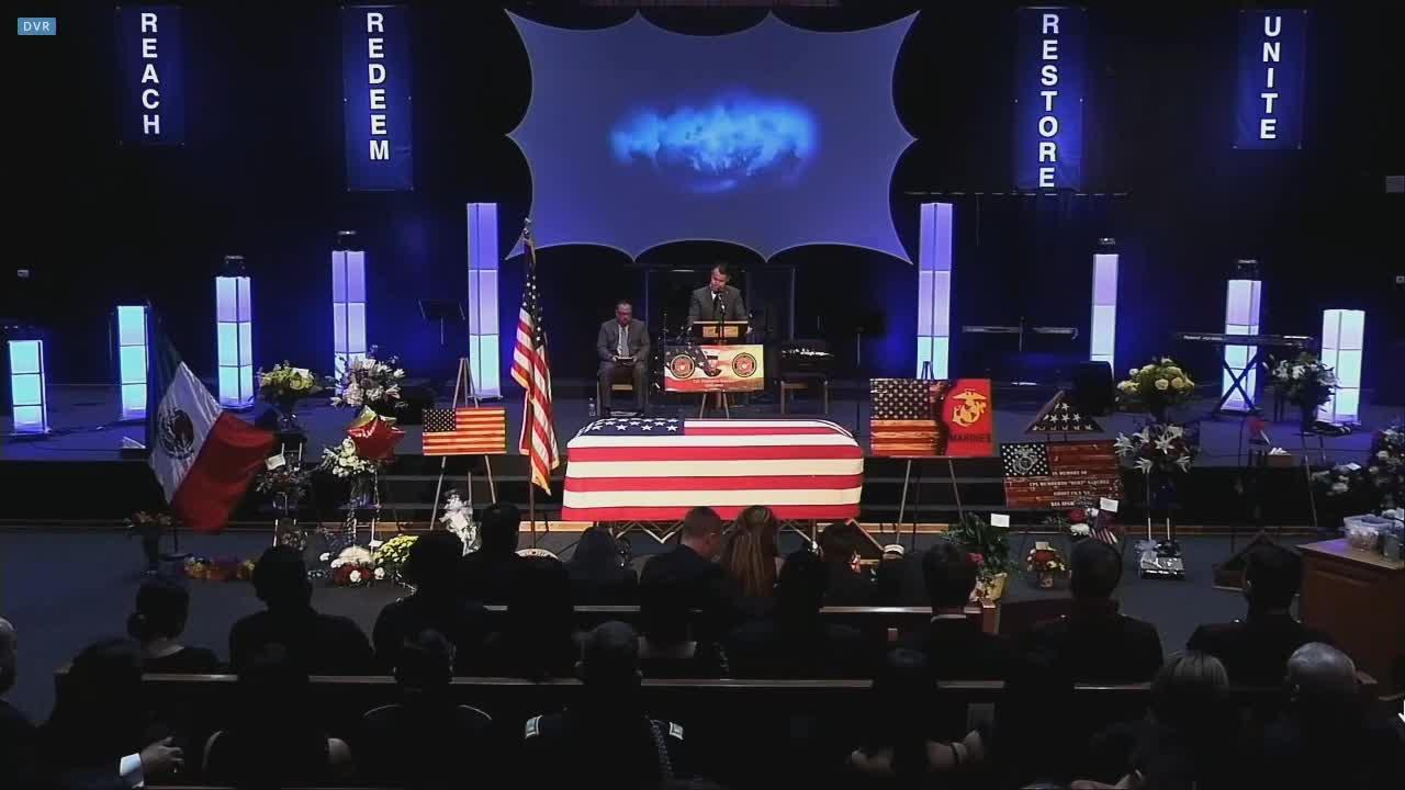 Funeral service for Cpl. Humberto Sanchez