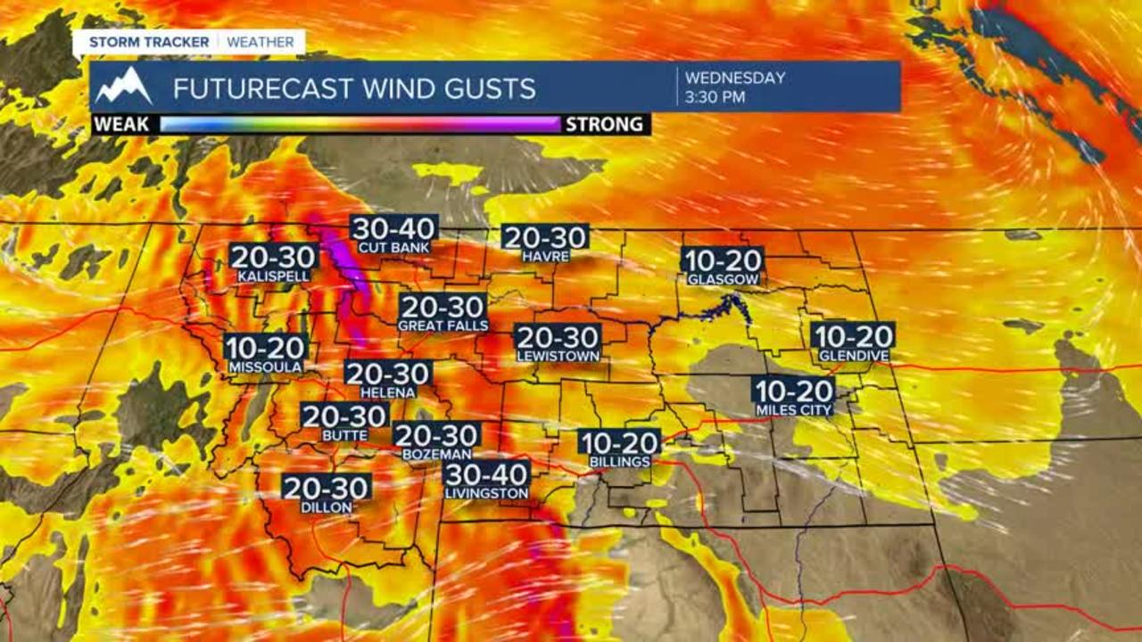 Very windy Wednesday with higher fire danger