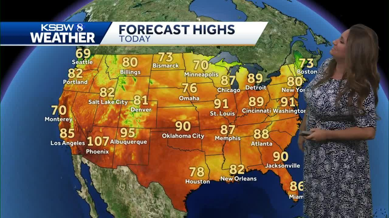 Another warm to hot day inland then cooler