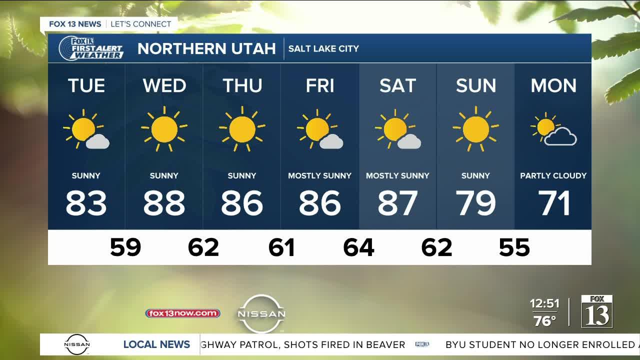 Weekend to bring low temps - September 14