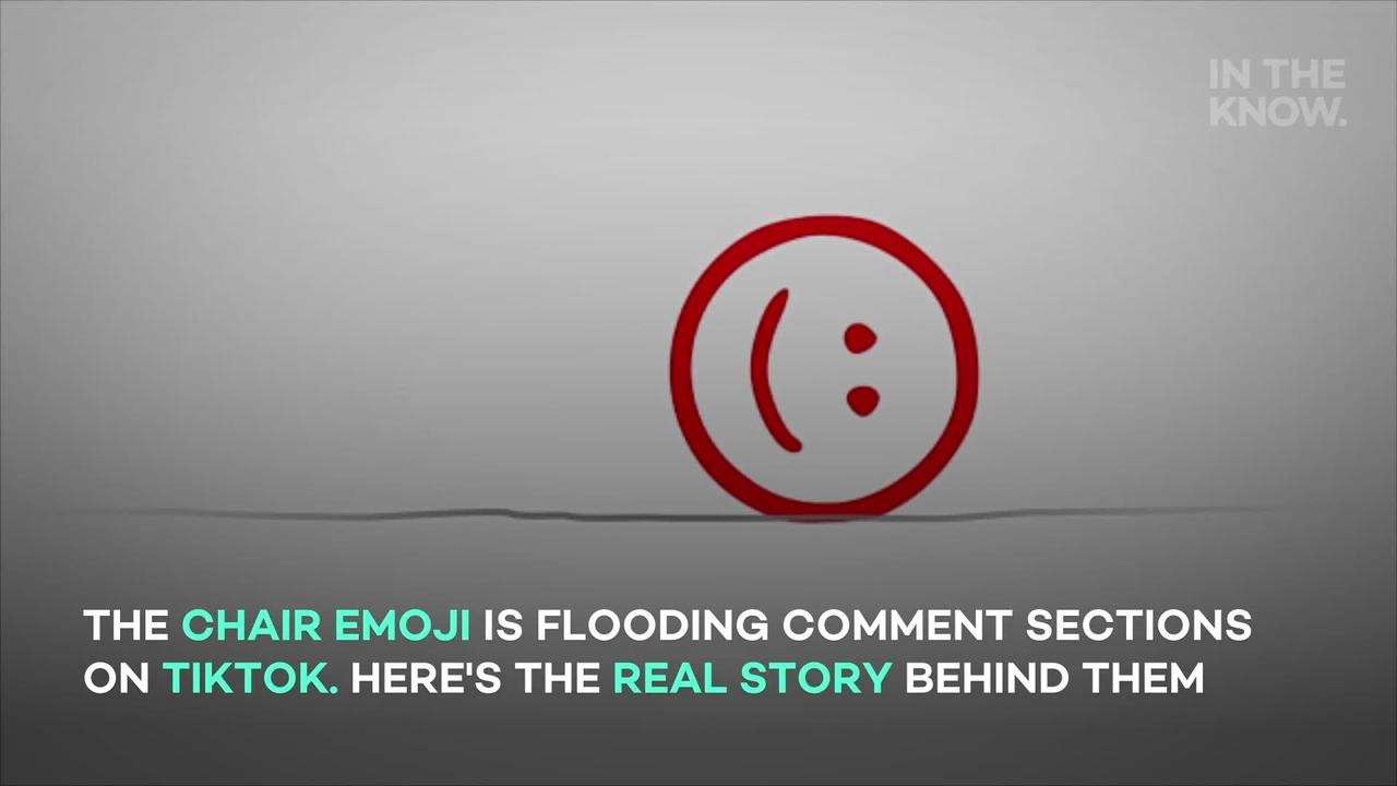 What does the chair emoji mean on TikTok and why is it so popular?