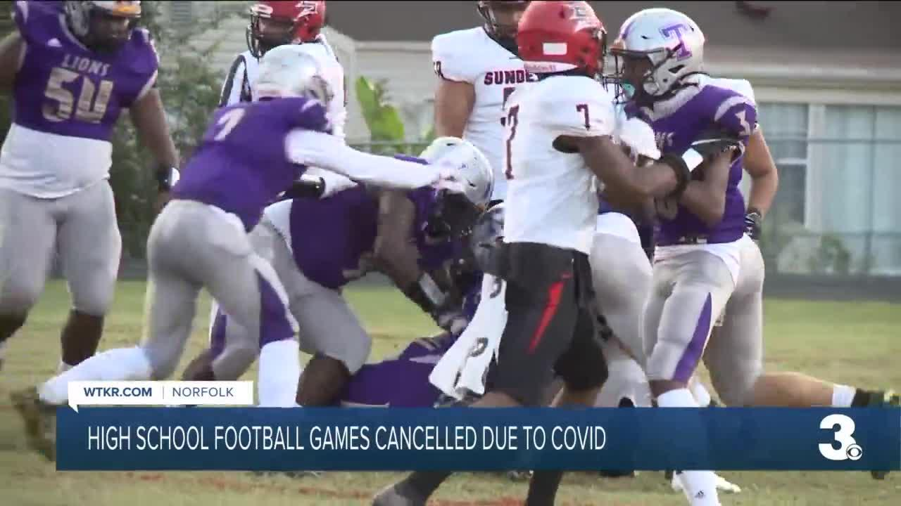 High school football games cancelled due to COVID