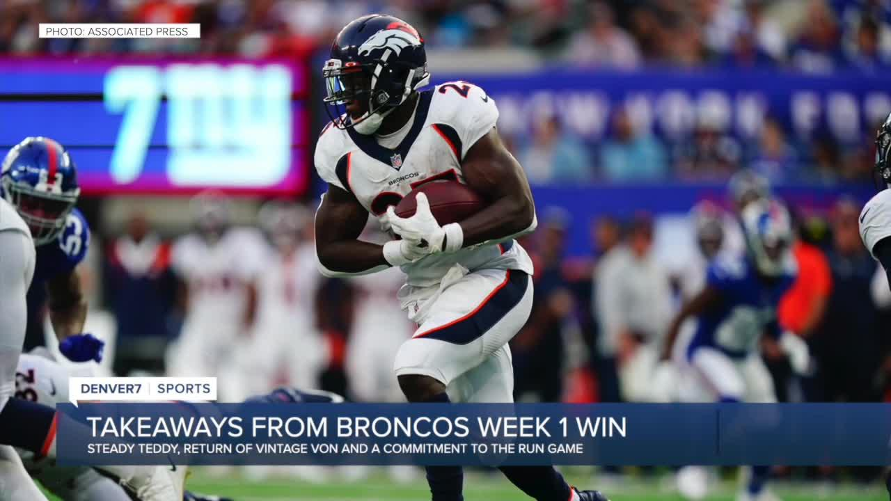 Troy Renck's takeaways from the Broncos' Week 1 win over New York