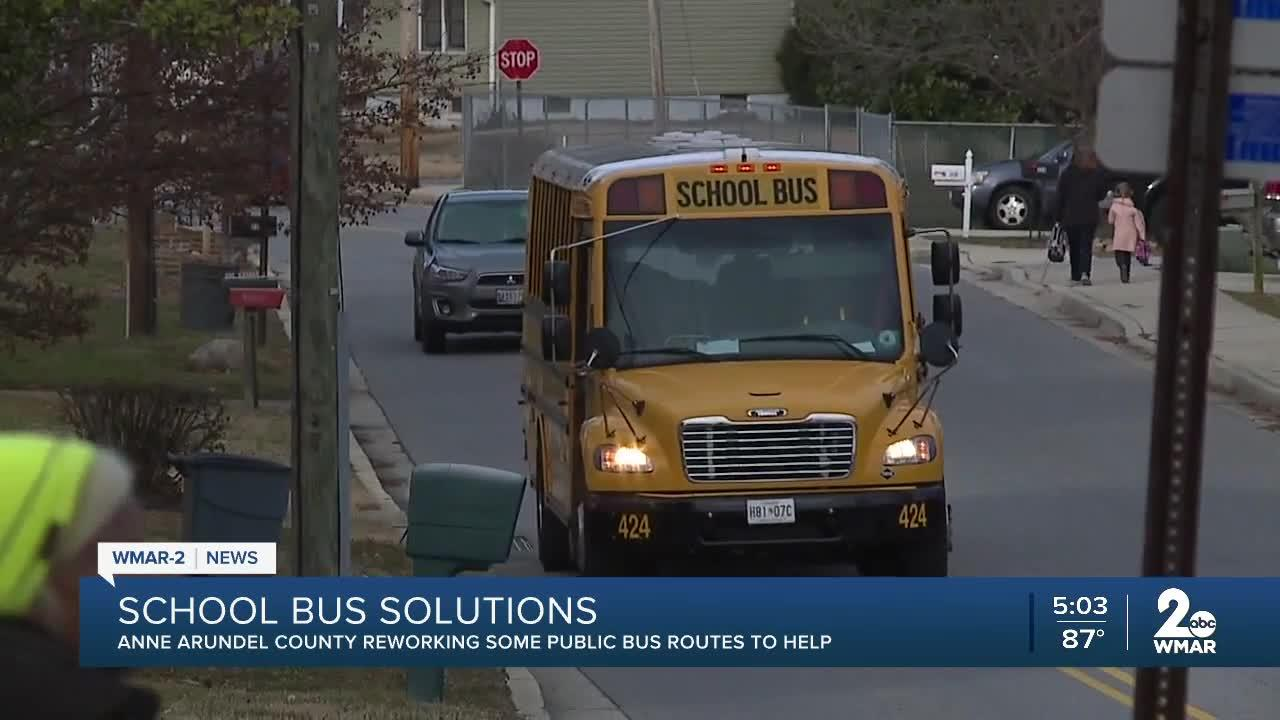 Anne Arundel County looks to mitigate impact of school bus shortage