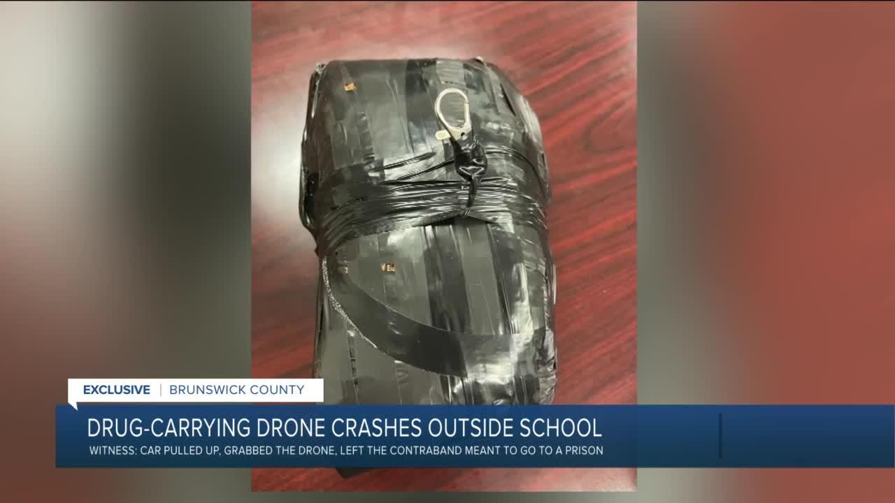 Drug-carrying drone bound for prison lands outside Virginia school
