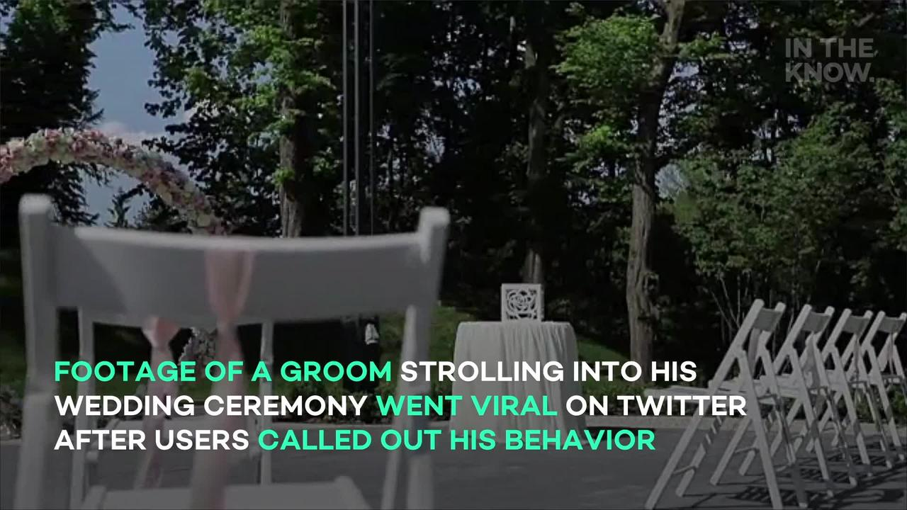 'Groomzilla' sparks backlash with unusual wedding entrance