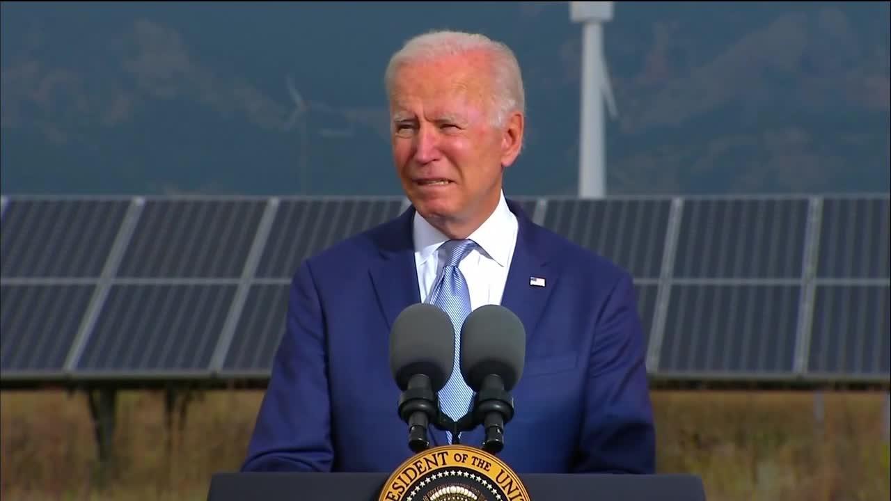 President Joe Biden delivers remarks at NREL in Golden