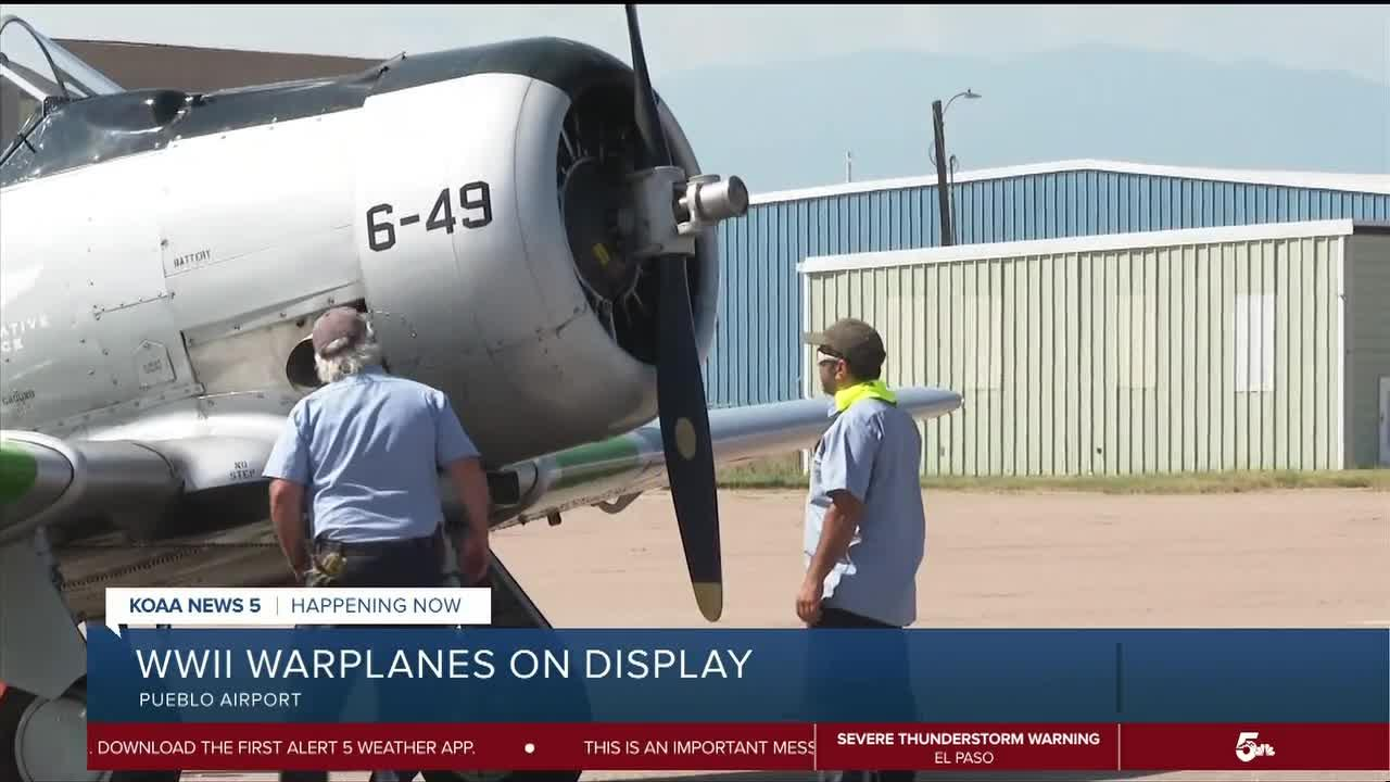 WWII Warplanes on display at Pueblo Airport