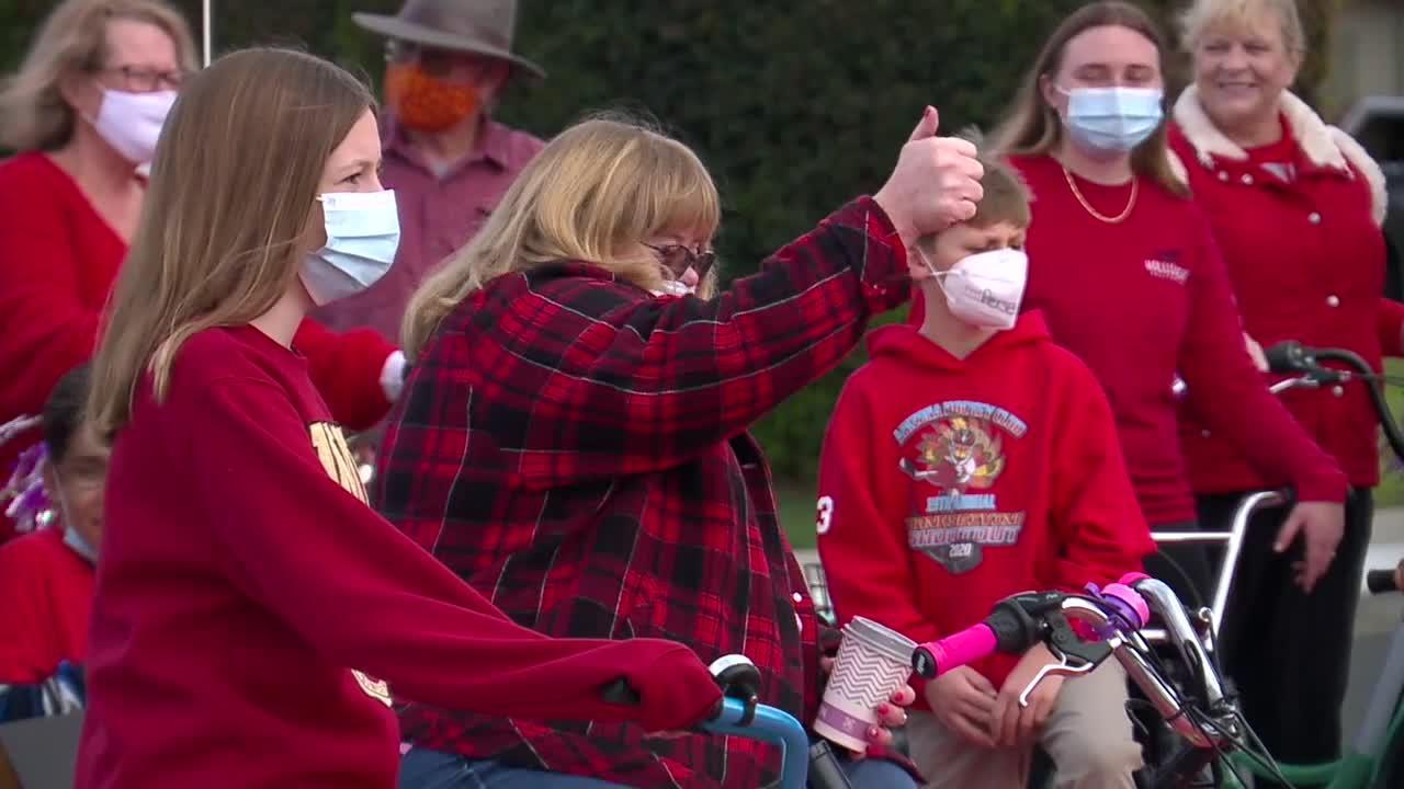 San Diego woman inspiring neighbors to pedal through pandemic