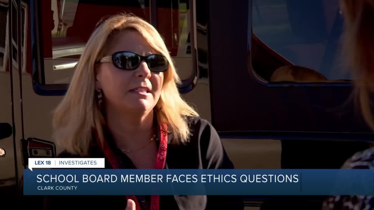 School Board Member faces ethics questions