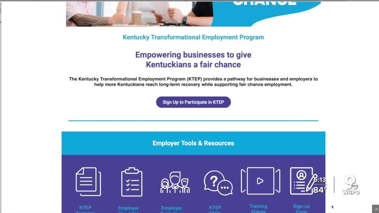 Kentucky launches jobs program for recovering drug users