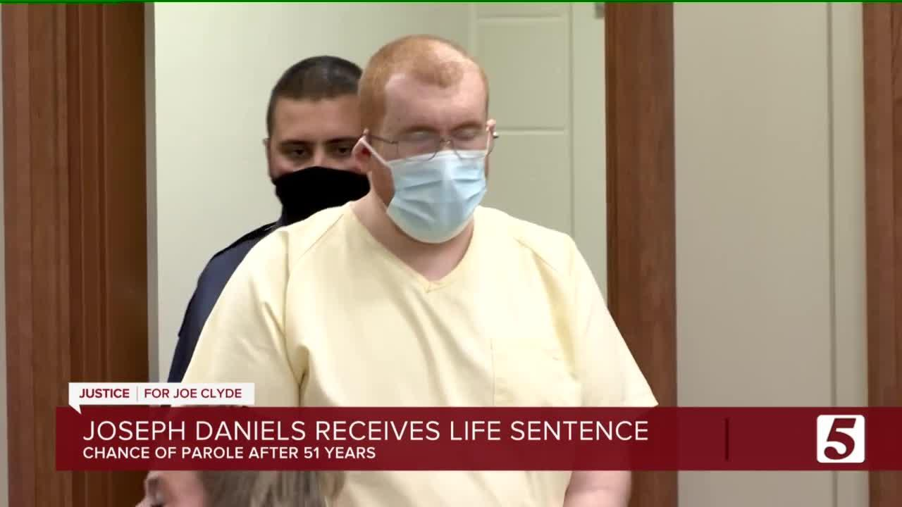 Joseph Daniels sentenced to life in prison with the chance of parole after 51 years