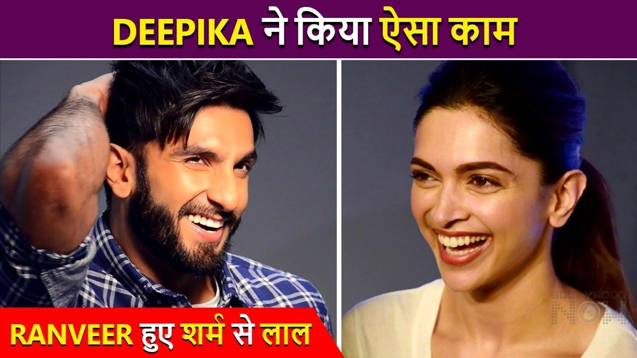 Ranveer Singh embarrassed after deepika padukone shares his candid photo