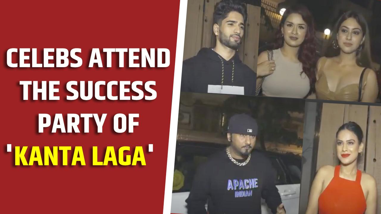 Celebs attend the success party of Neha Kakkar, Yo Yo Honey Singh's party track 'Kanta Laga'