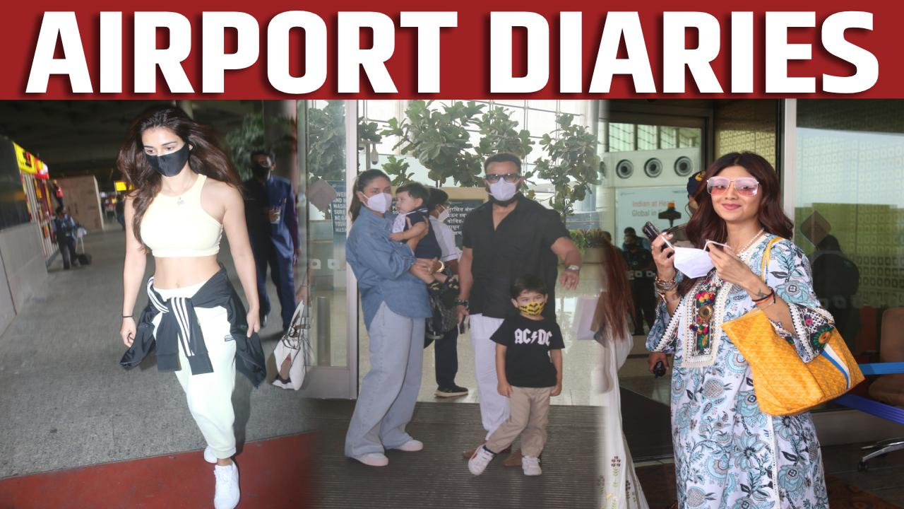 Kareena Kapoor spotted with family at the airport