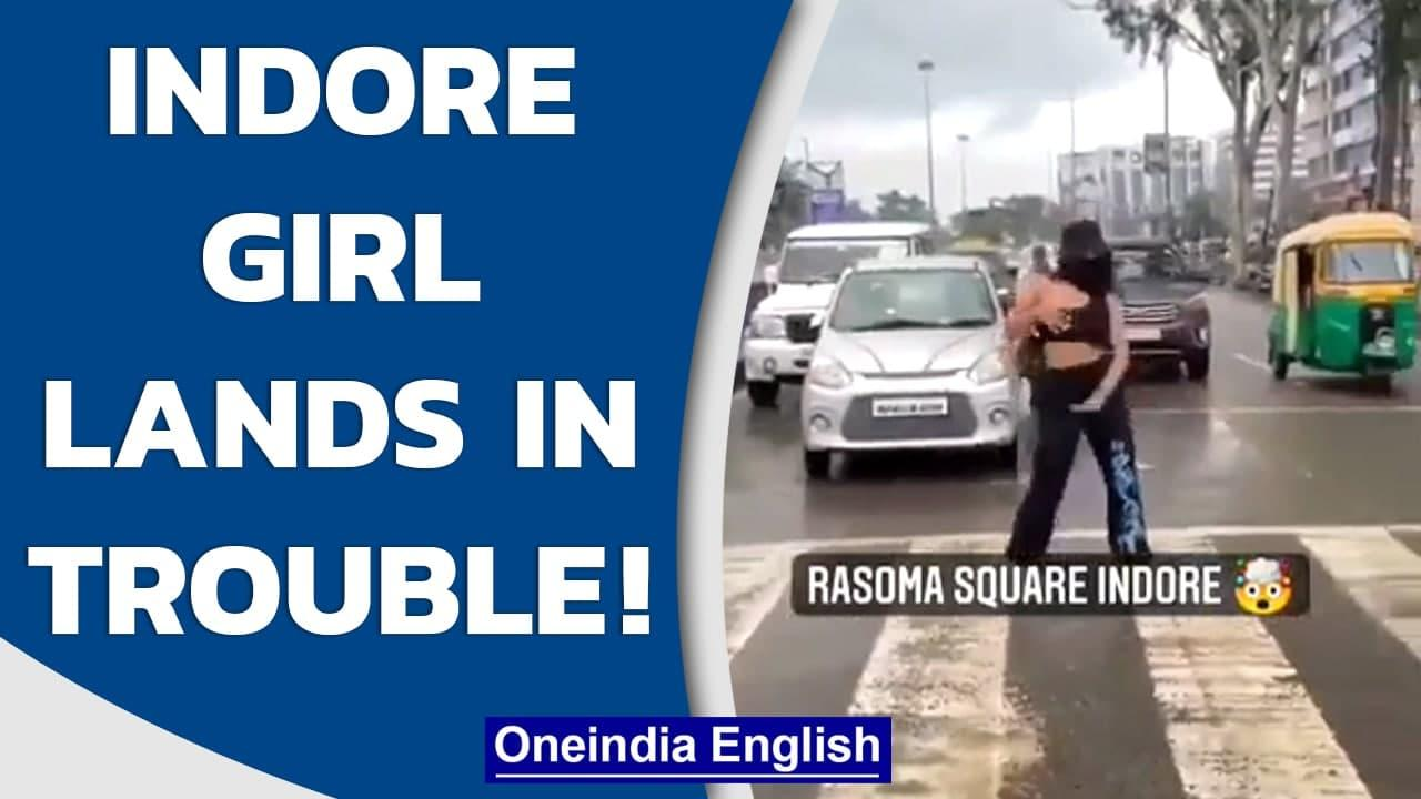 Indore girl dances on zebra crossing, lands in trouble with cops | Oneindia News